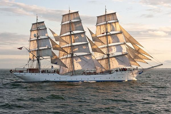 """How near to perfect did the big square-rigged ship become? That is a question. So long as men remained who could man her and the tradition of her sailing was unbroken, in my opinion -for what it may be worth- I think at her best she did approach perfection"" -A. V."