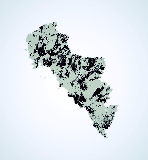 Οι καμένες εκτάσεις στην Άνδρο τα 30 τελευταία χρόνια. Μια εικόνα, χίλιες λέξεις… (Πηγή: Κώστας Ποϊραζίδης/Η. Πέττας, ΤΕΙ Ιονίων Νήσων-Τμήμα Τεχνολόγων Περιβάλλοντος)