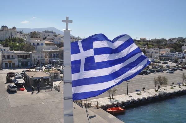 Ελληνική σημαία στο Γαύριο