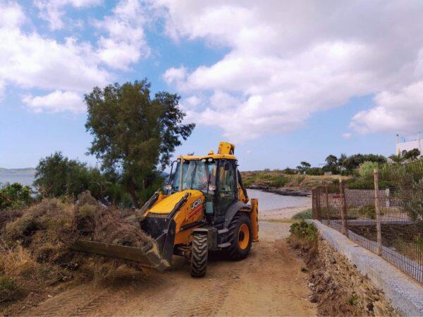 Καθαρίστηκε η παραλία Τζαννετάκη στο Γαύριο