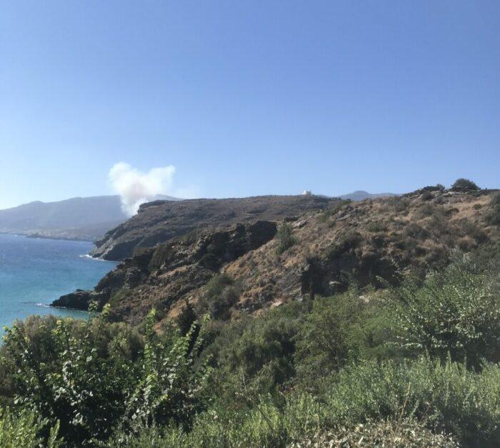 Φωτιά στην παραλία Συνετίου