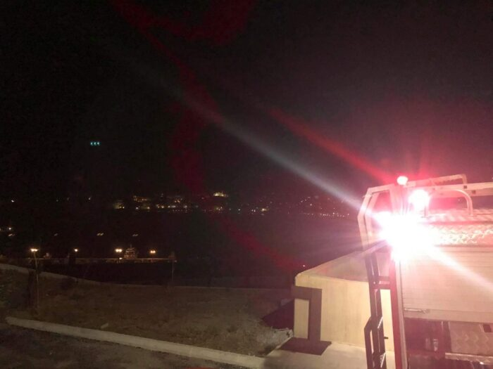 Πυρκαγιά στη Χώρα περιοχή εργοστασίου Δ.Ε.Η. – Τρύπες – Αγία Τριάδα