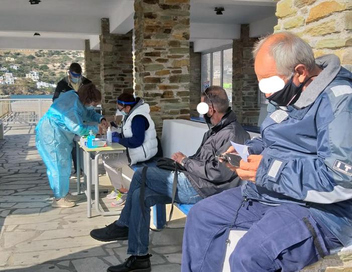 Συμμετοχή πολιτών στα Rapid Test Αντιγόνου στο Γαύριο