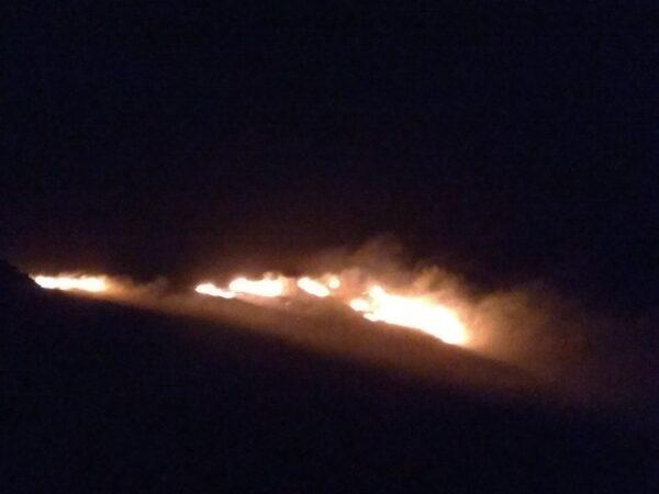 Φωτιά  άναψε τη νύχτα στο βουνό
