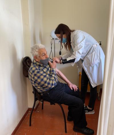 Η πρώτη ημέρα του εμβολιασμού στην Άνδρο