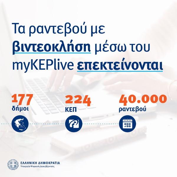 Τα ραντεβού με βιντεοκλήση μέσω του myKEPlive και στο Δήμο Άνδρου
