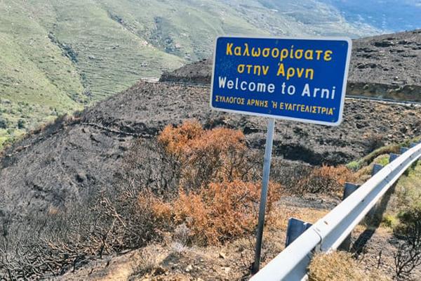 Η ανακοίνωση της Δ/νσης Δασών Κυκλάδων για την πυρκαγιά στην Άνδρο