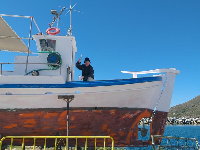 Ο καπετάν Γιάννης Μουστάκας του ... Γαυρίου