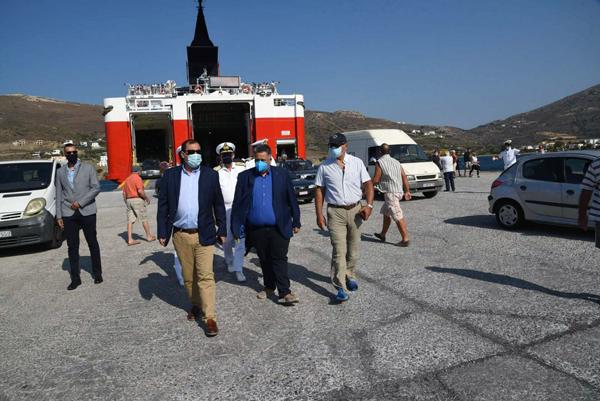 Η επίσκεψη του υφυπουργού Κ. Κατσαφάδου στην Άνδρο